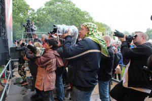 fotografen op parkpop